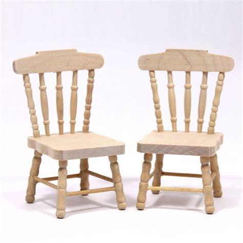 set   dolls house kitchen chairs plain wood bef