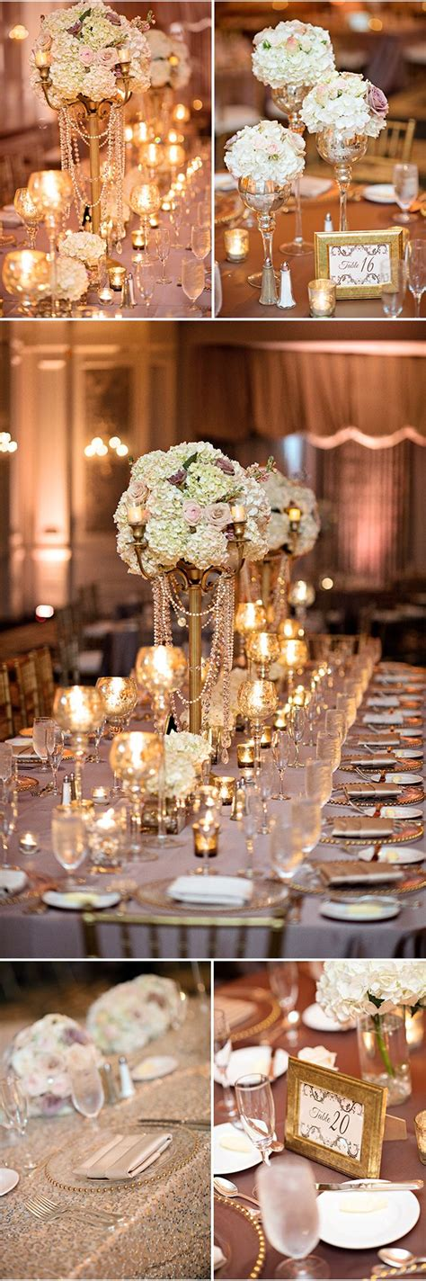 and gold reception decoration blush ivory and gold wedding reception decor