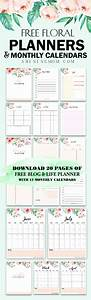 Agenda Planner 2018 : free monthly calendar 2019 and life planner in florals ~ Teatrodelosmanantiales.com Idées de Décoration