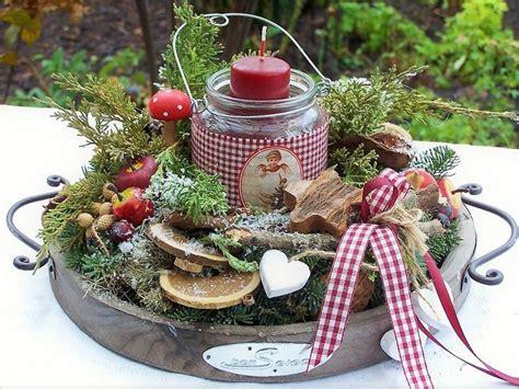 weihnachtsdeko auf holztablett bildergebnis f 252 r kr 228 nze aus 228 sten weihnachten weihnachtsdekoration