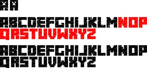 Updated Minecraft Logo Font