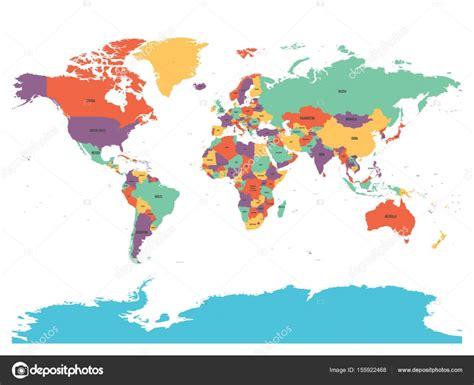 Carte Du Monde Avec Nom Des Pays En Anglais by Carte Politique Du Monde Avec L Antarctique Pays En