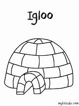 Igloo Coloring Pages Letter Printable Preschool Getcolorings Worksheets Getcoloringpages sketch template