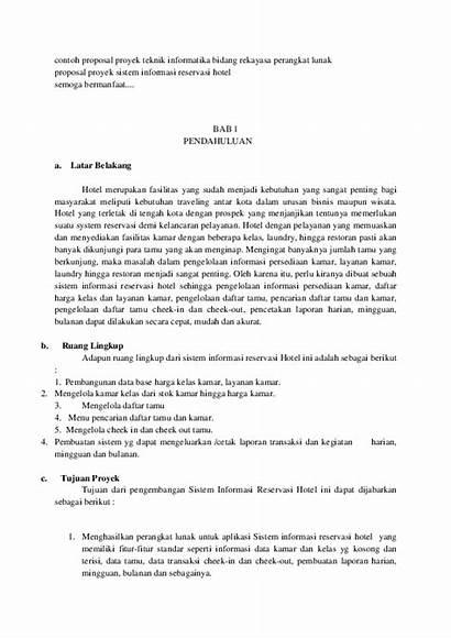 Contoh Proposal Proyek Lunak Perangkat Informatika Bidang