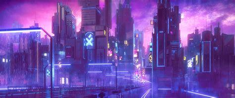 1080p Neon City Wallpaper by City Animated Digital Wallpaper Cyberpunk Neon Hd