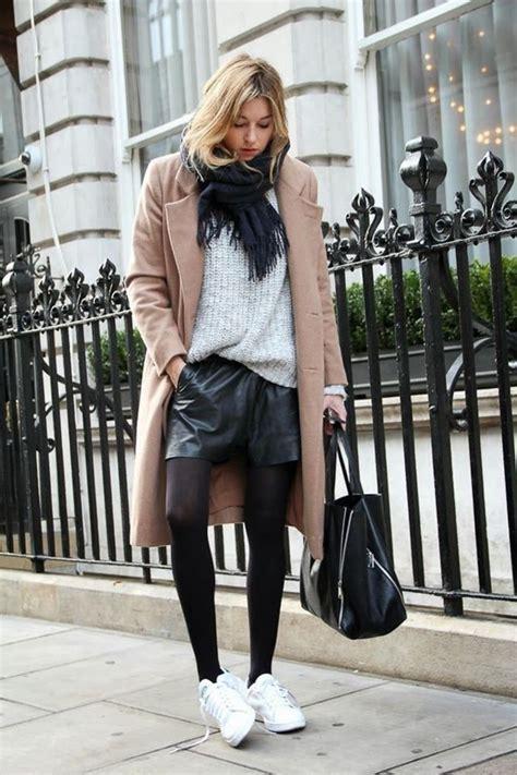 1001 id 233 es comment porter des stan smith chaque jour shorts en cuir noir en cuir et