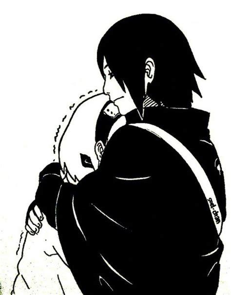 anime couple black and white wallpaper sasusaku image 3684276 by taraa on favim com
