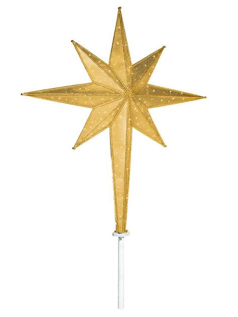 large gold moravian led tree top star commercial