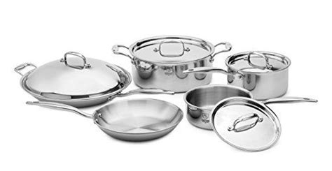 american clad  ply  ti  piece cookware set stainless steel  sale cookware set