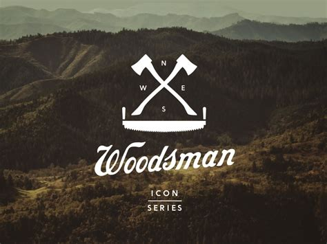 outdoor woodsman logos series icon outdoors adventure guvnor inspired designs font camping wood dribbble effects designhill