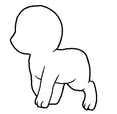 chibi animal lineart  jadethekitteh  deviantart