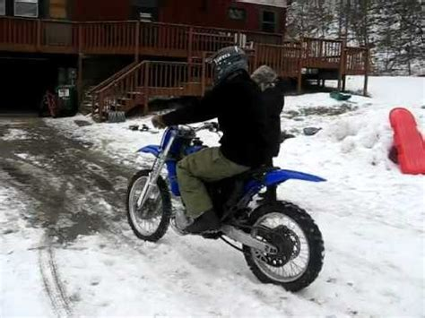 electric dirt bike   snow youtube