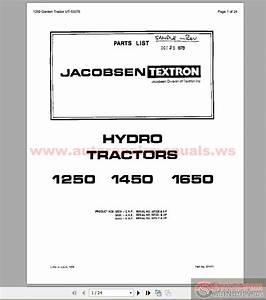 Jacobsen 1250 1450 1650 Parts List