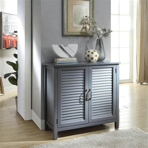 accent cabinet with doors usl gray accent cabinet with 2 shutter doors