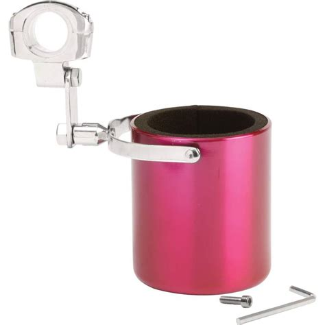 Pink Stainless Steel Motorcycle Cup Holder With Adjustable