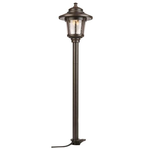 low voltage path lights hton bay low voltage integrated led oil rubbed bronze