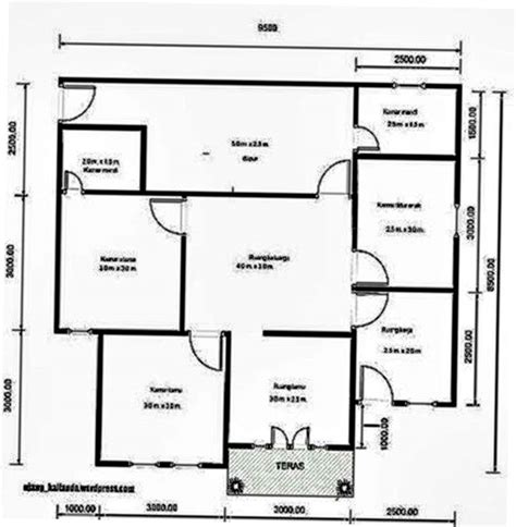 rumah minimalis modern  lantai  kamar tidur desain