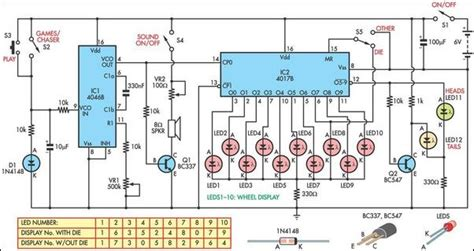 led light chaser circuit diagram led chaser provides three game functions eeweb community