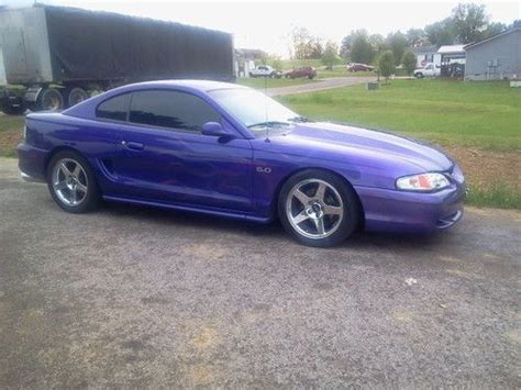sell   purple ford mustang gt   ghost