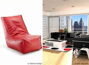 Sitzsack Aus Leder : mit dem sitzsack rote akzente setzen sitzsackprofi ~ Sanjose-hotels-ca.com Haus und Dekorationen