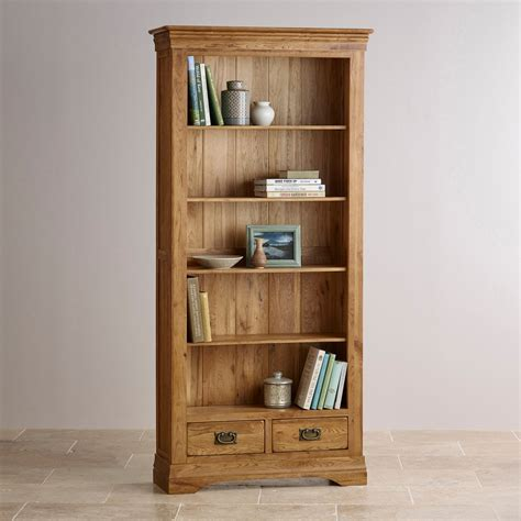 bookshelves farmhouse bookcase solid oak oak furniture Farmhouse