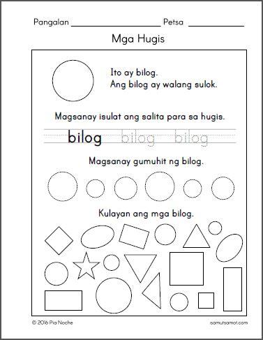 filipino worksheets  grade  archives