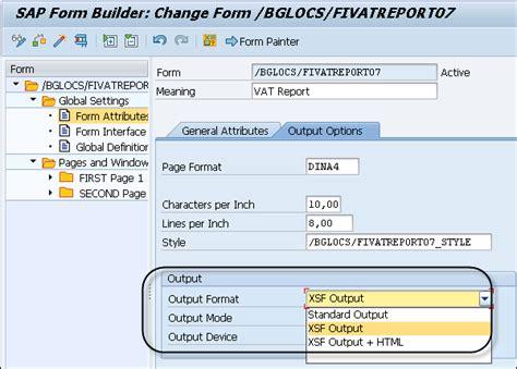 sap smart forms output types