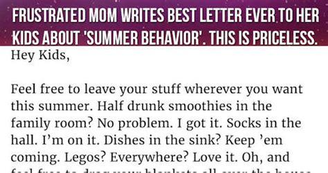frustrated mom writes  letter    kids