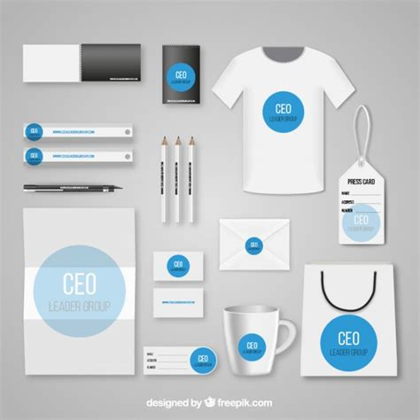 corporate identity template vector free download