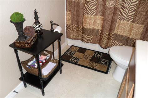 leopard print bathroom decor decorating with one pink chic side bathroom update
