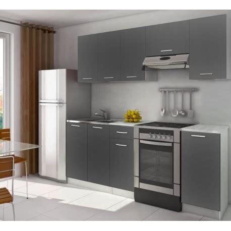 cuisine equipee complete cuisine complète équipée 2m20 lamina grise pas cher