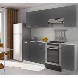 Cuisine D Angle Complète : cuisine compl te quip e 2m20 lamina grise pas cher ~ Teatrodelosmanantiales.com Idées de Décoration