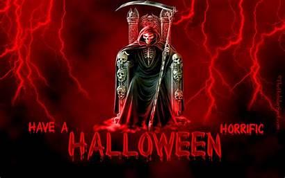 Halloween Reaper Grim Creepy Skull Horror Skeletons