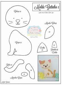 17 Modelos de Gato de Feltro com Molde artesanato