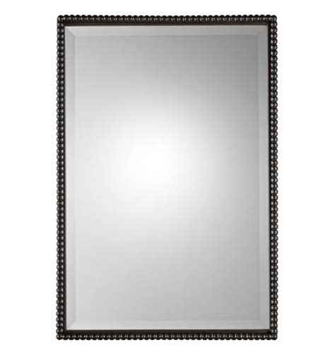 rejuvenation beaded rectangular mirror oil rubbed