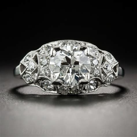 115 Carat Platinum Art Deco Diamond Engagement Ring. Cut Bands. Piaget Polo Watches. Custom Rubber Bands. Weddig Bands