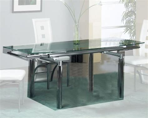 dining extension tables extension dining table w glass top ol t307 3329