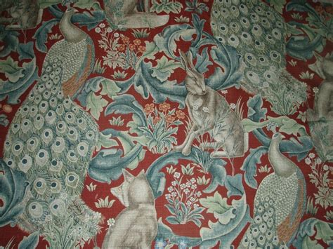 William Morris Upholstery Fabric by William Morris Curtain Fabric Quot Forest Linen Quot 3 Metres