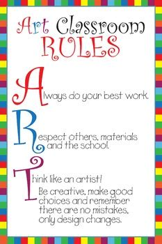 Art Classroom Rules Poster - ART by Mrs Clauses Creative