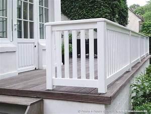 gelander fur terrasse und balkon hartholz weiss lackiert With französischer balkon mit garten terrasse holz