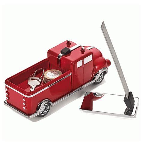 cadeau bureau homme presse papier camion de pompiers aimanté décoration de