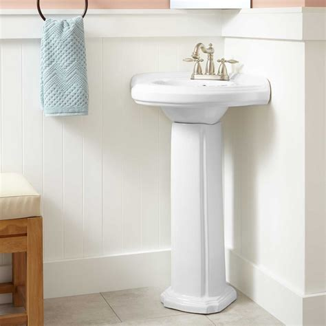 Pedestal Sink For Small Bathroom by Pedestal Sink Storage Ideas Midcityeast
