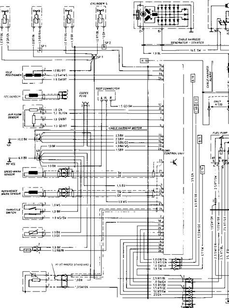 wiring diagram type 924 s model 86 sheet porsche 944