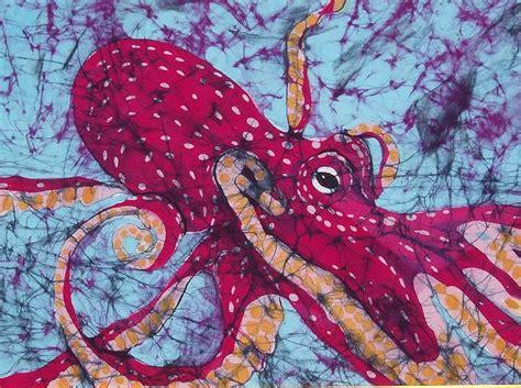 octopus fine art batik tapestry textile  kay shaffer