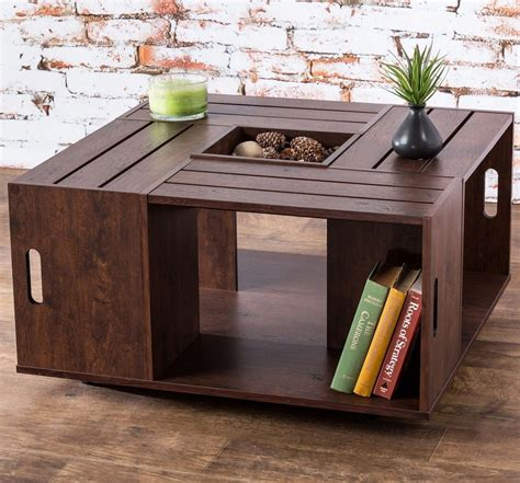 Don't forget to stop by and like my facebook page and follow me on twitter! Wine Crate Coffee Table DIY Design   Coffee table, Wood crate coffee table, Wine crate coffee table