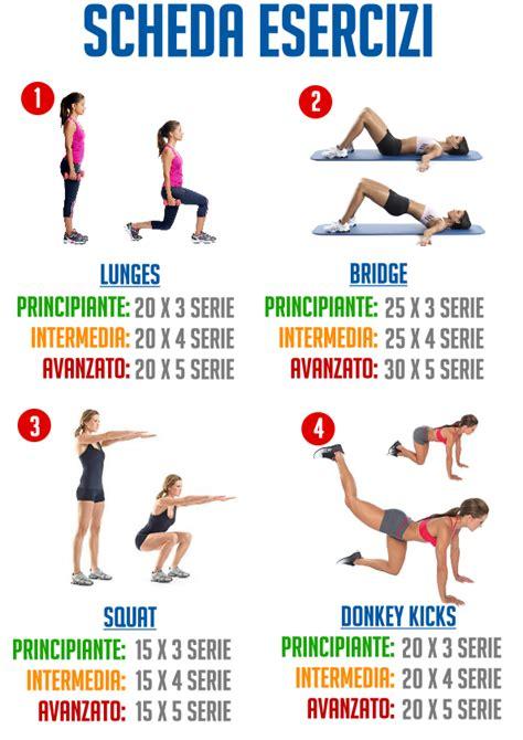 dimagrire nel sedere snap glutei e gambe programma avanzato a corpo libero