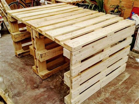 Roma Tufted Wingback Bed Frame by Pallet Dining Tables The Shipping Pallet Dining Table