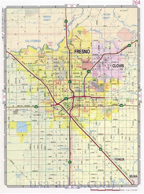 fresno street map large scale detailed streets map fresno