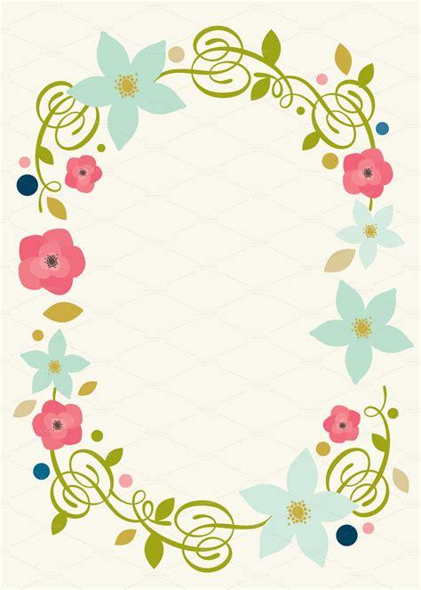 spring floral invite invitation templates  creative market