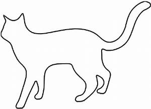 cat silhouette outline clipartsco With caterpillar outline template